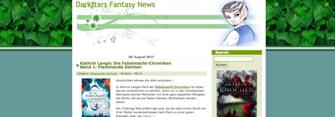 Darkstars Fantasy News | Buchblog-Award 2017