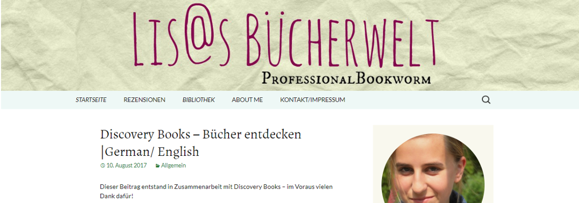 Lisas Bücherwelt | Buchblog-Award 2017
