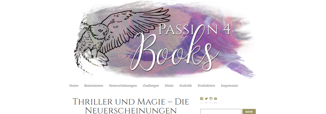Passion4Books | Buchblog-Award 2017