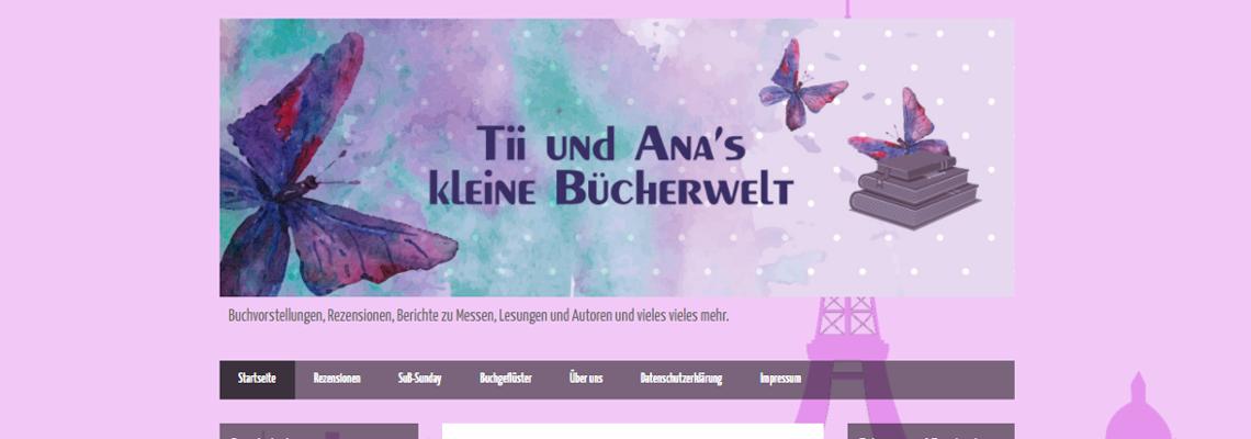 Tii und Ana's kleine Bücherwelt | Buchblog-Award 2017