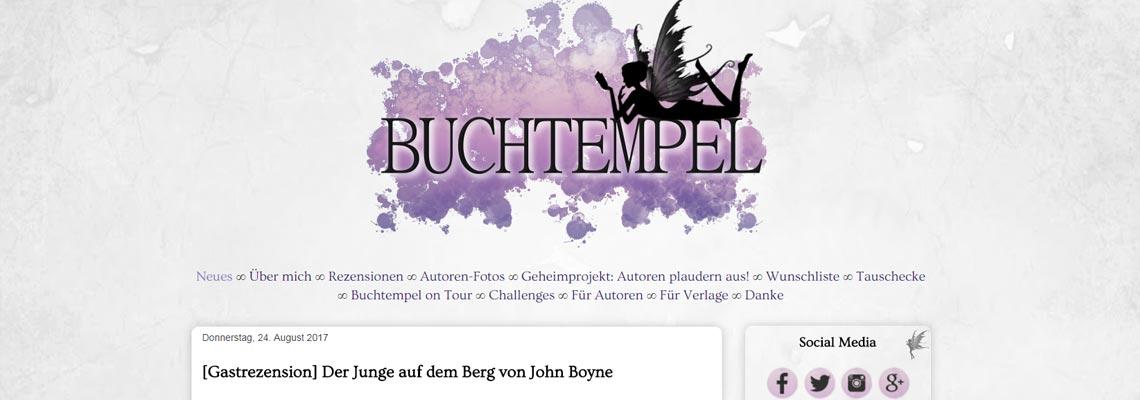 Buchtempel   Buchblog-Award 2017