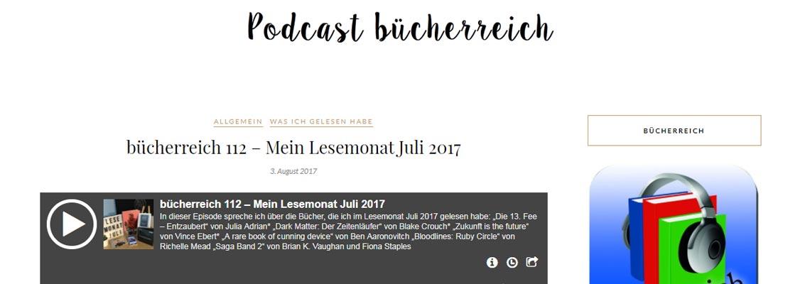 Podcast bücherreich   Buchblog-Award 2017