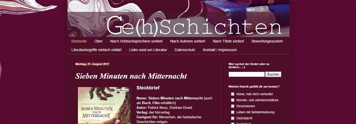 Ge(h)schichten | Buchblog-Award 2017