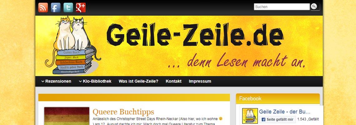 Geile Zeile | Buchblog-Award 2017