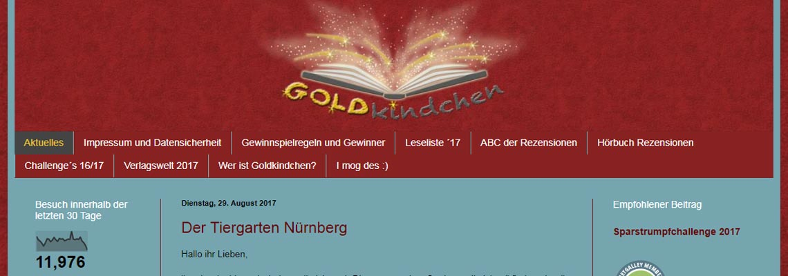 Goldkindchen | Buchblog-Award 2017