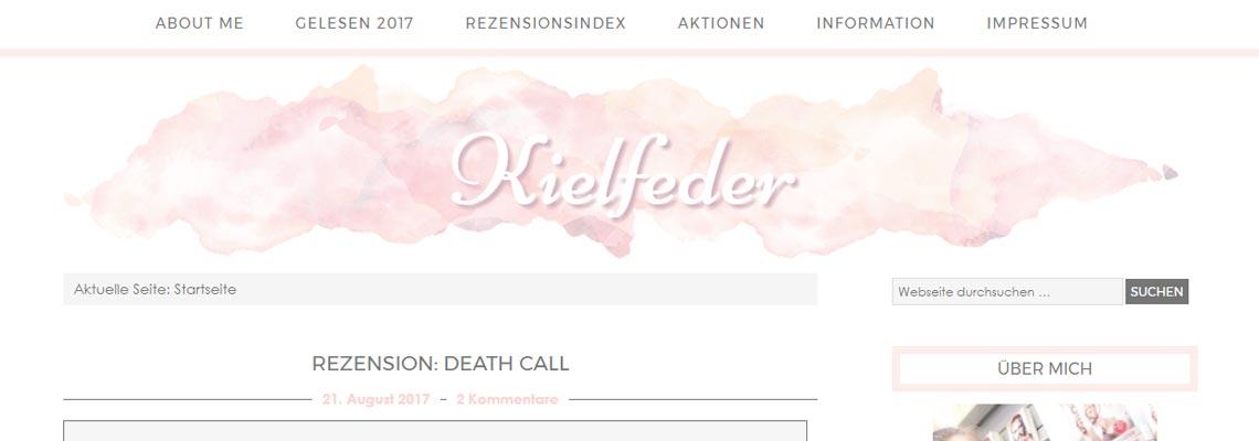 Kielfeder | Buchblog-Award 2017