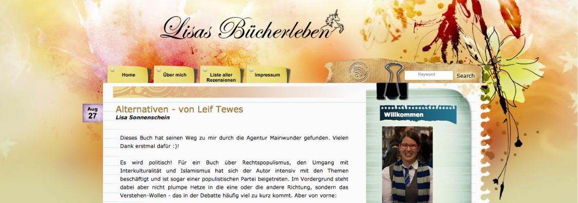 Lisas Bücherleben   Buchblog-Award 2017