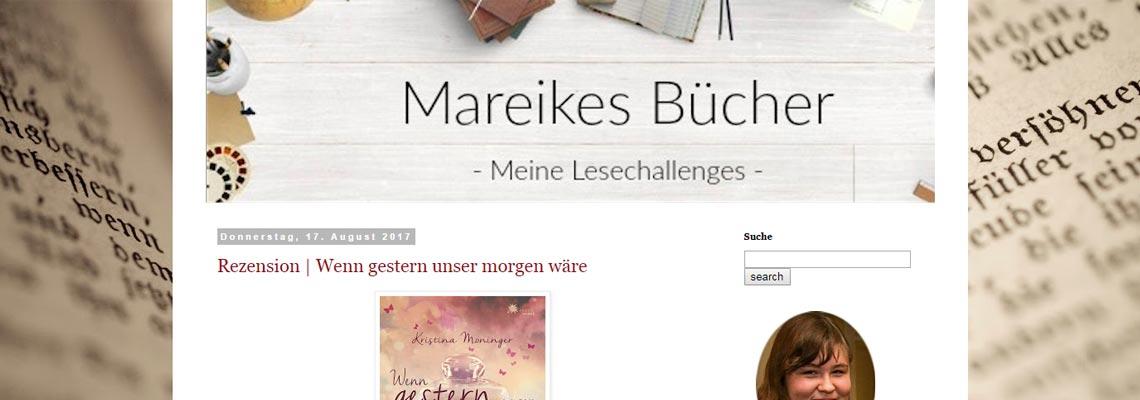 Mareikes Bücher   Buchblog-Award 2017