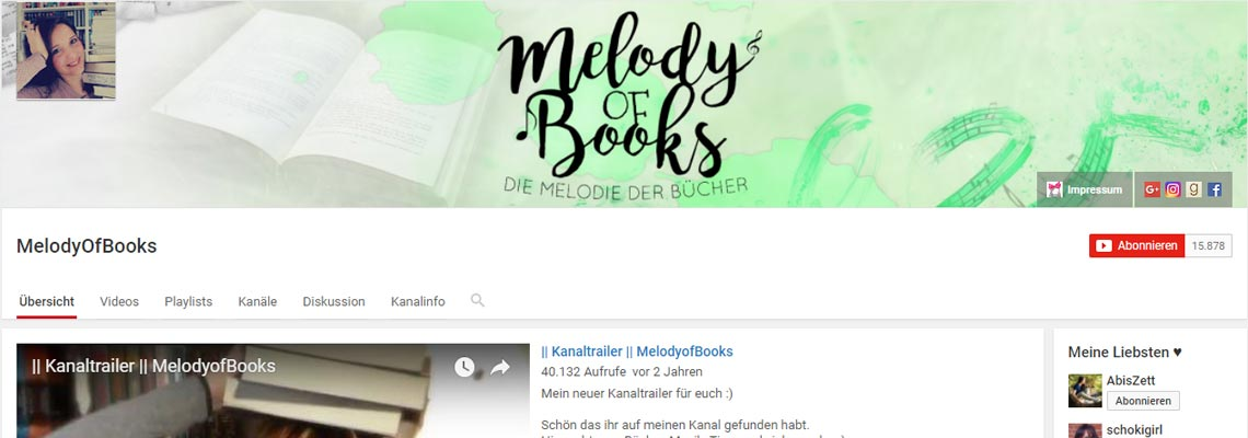 Melody of Books | Buchblog-Award 2017