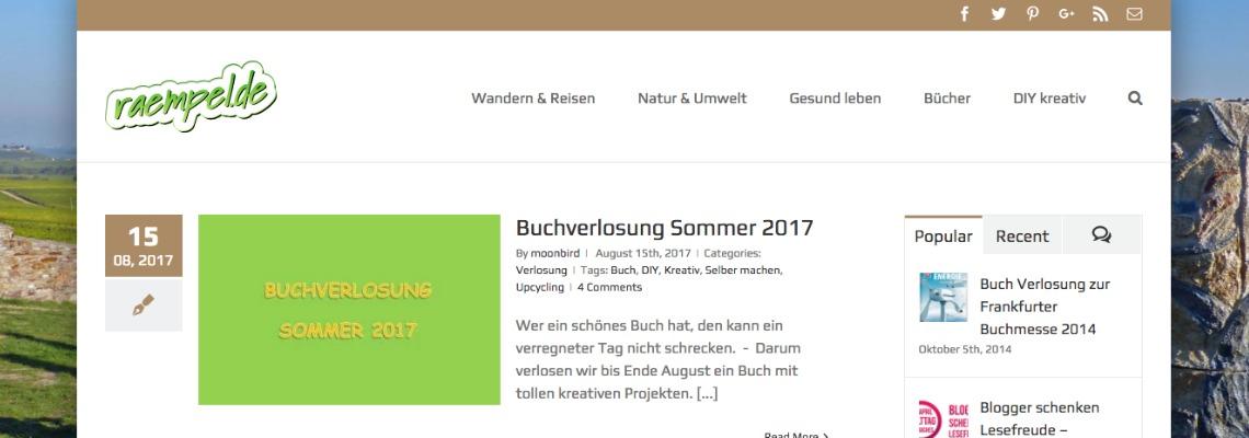 raempel.de | Buchblog-Award 2017