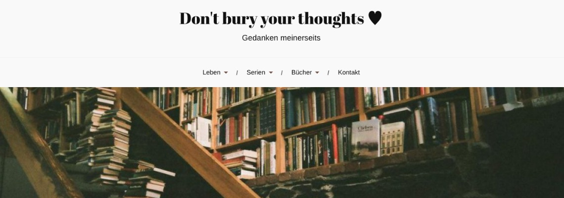 Dont bury your thoughts   Buchblog-Award 2017