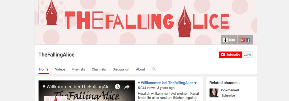 The Falling Alice | Buchblog-Award 2017